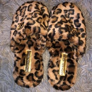 Michael Kors cheetah slippers